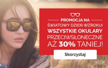 Złap jesienne wyprzedaże i kup okulary przeciwsłoneczne 30% taniej!