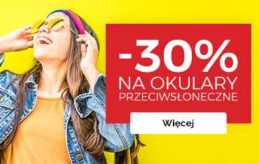 -30% na okulary przeciwsłoneczne